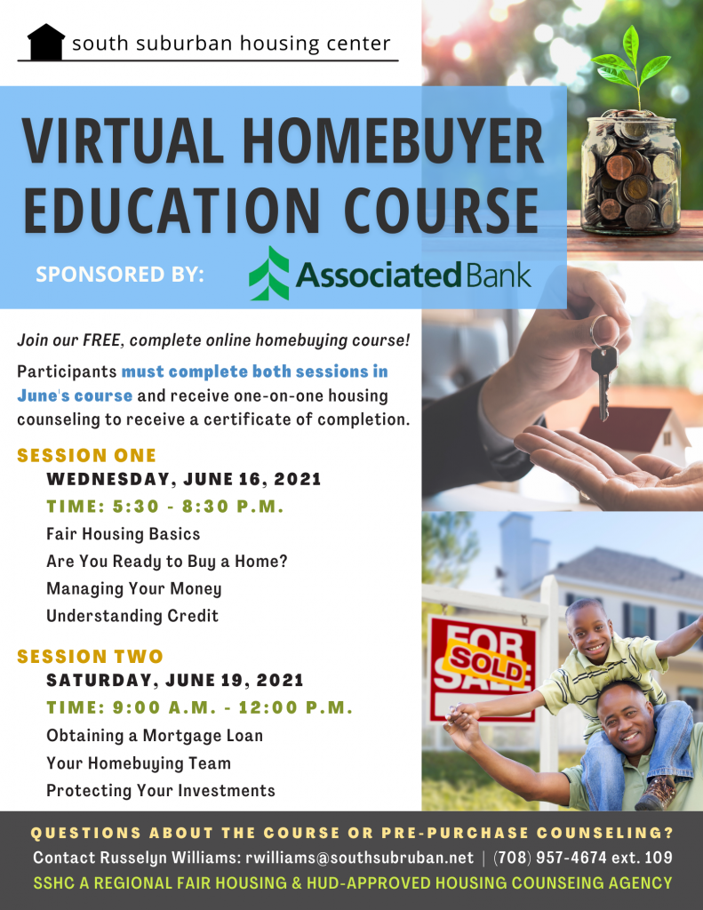 June Virtual Homebuyer Education, keep reading for more details. Click to register.