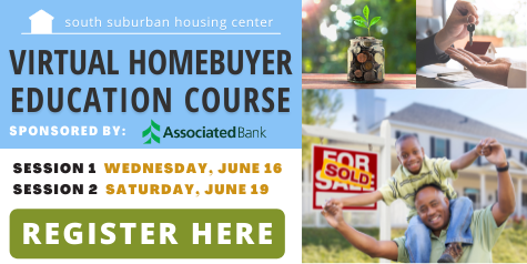 Virtual Homebuyer Education Course, sponsored by Associated Bank, June 16 & 19, you must attend both sessions. Click here for more details.